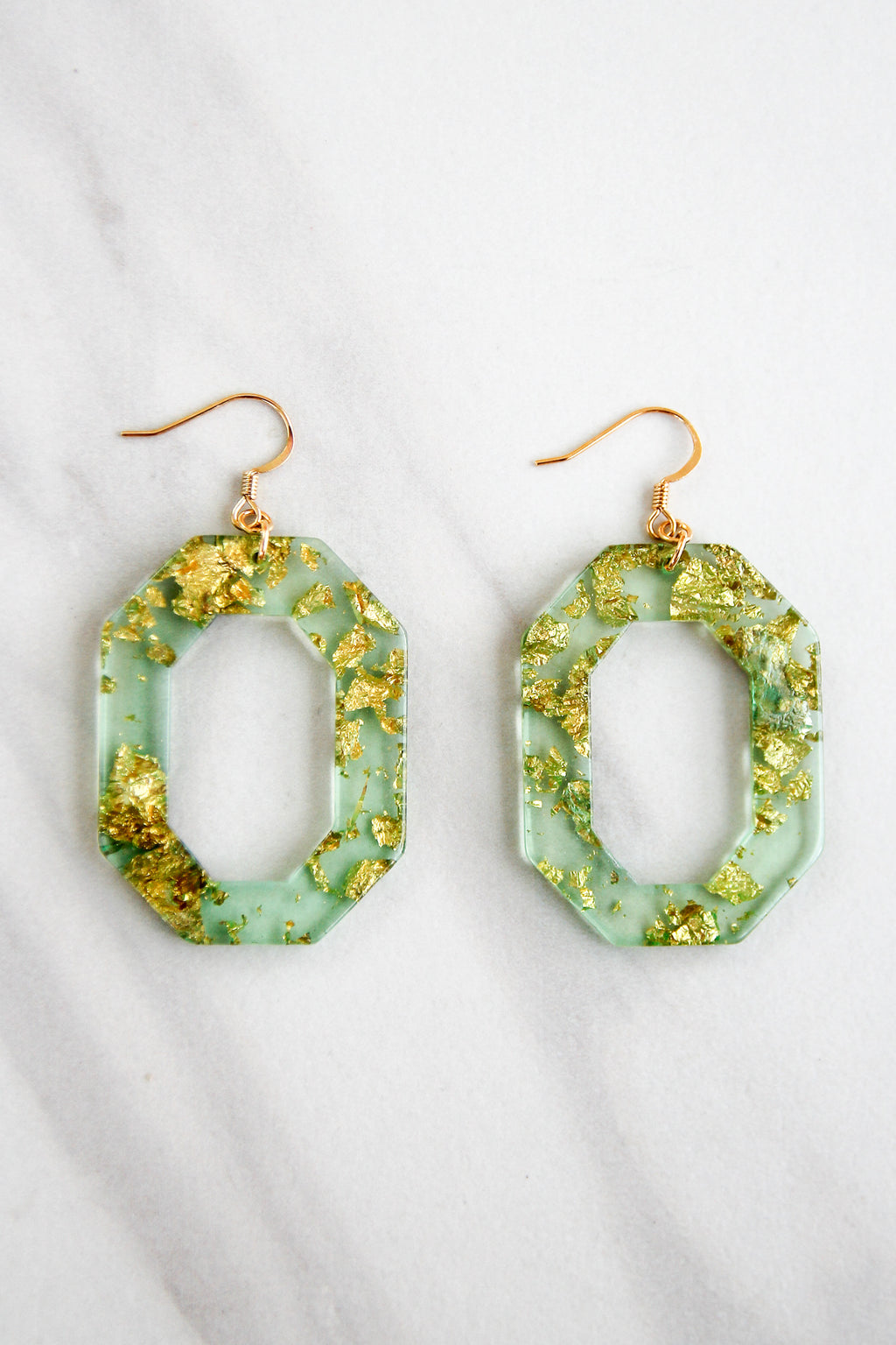 In The Future Acrylic Earrings - Green