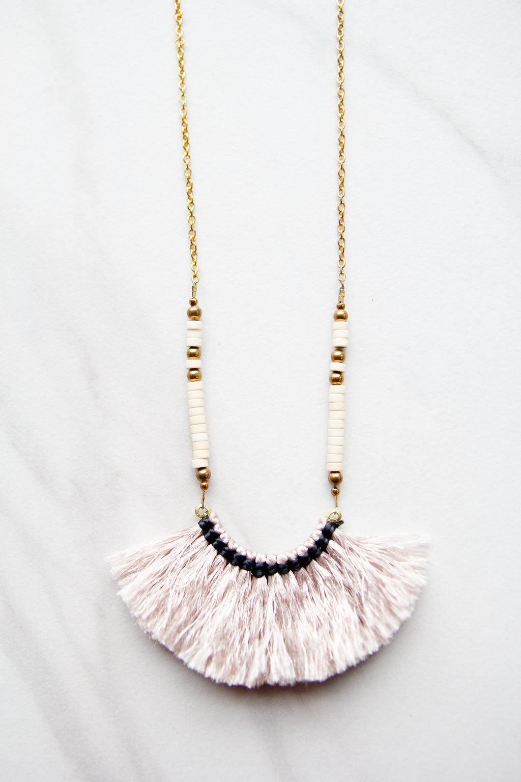 Taupe Fun Frill Necklace