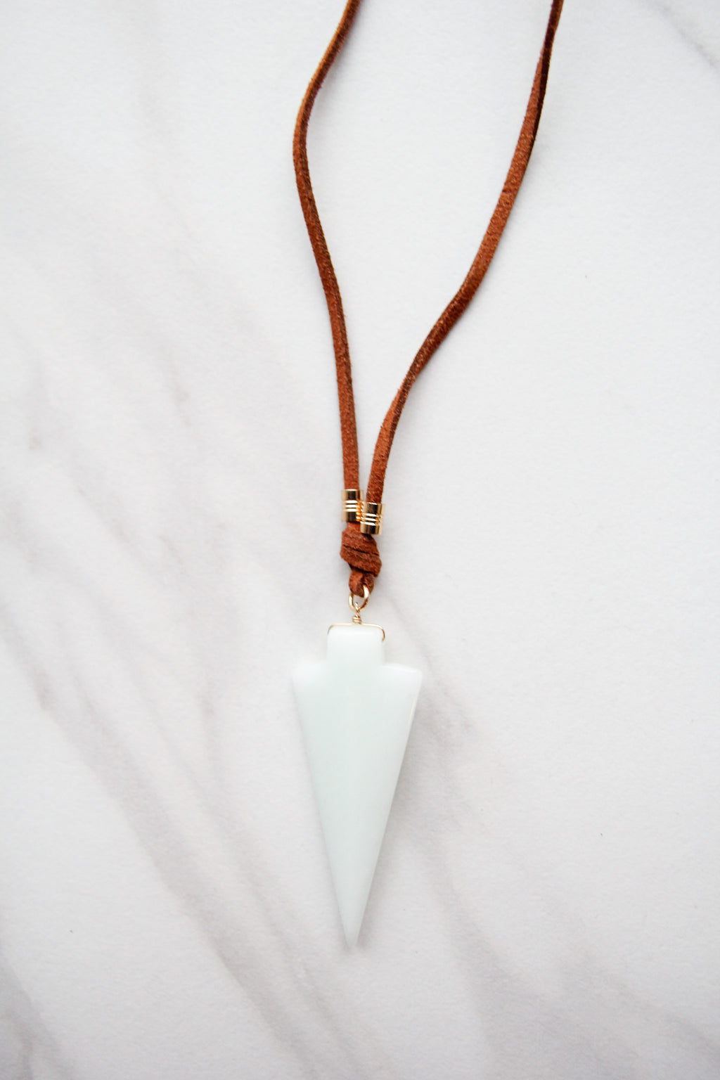 Melaney Mint Arrowhead Necklace