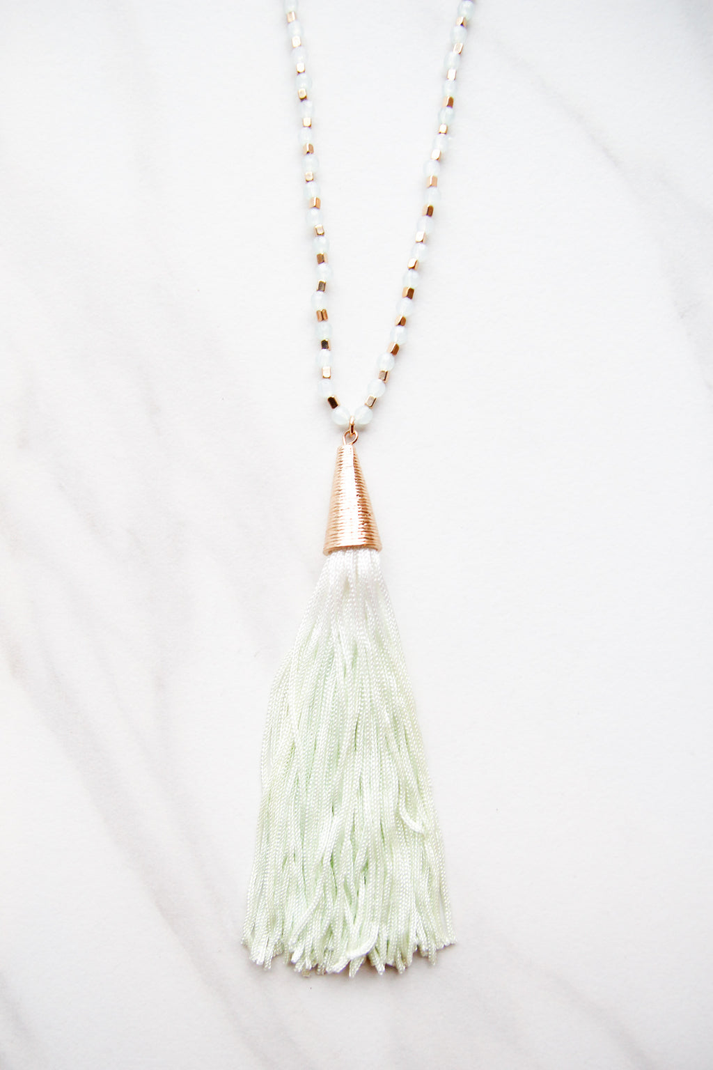 Raining Green Necklace