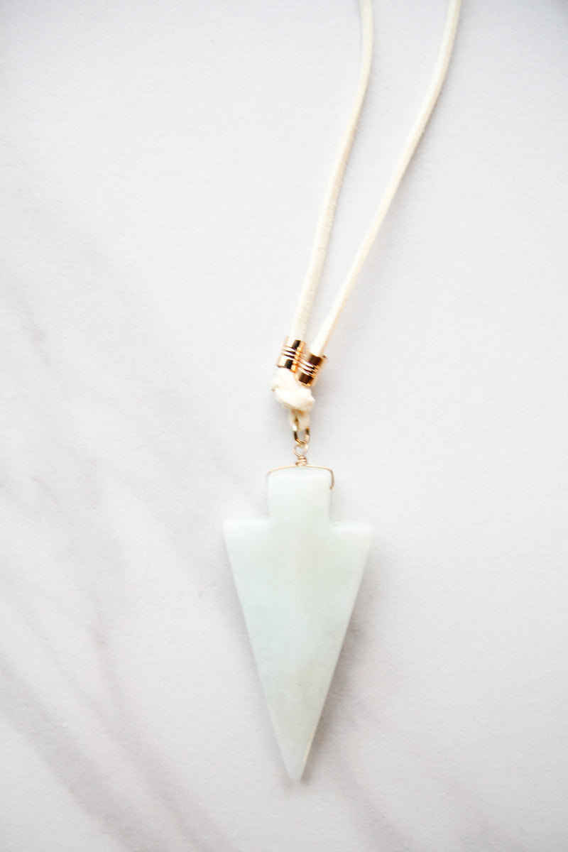 Nude & Mint arrowhead necklace