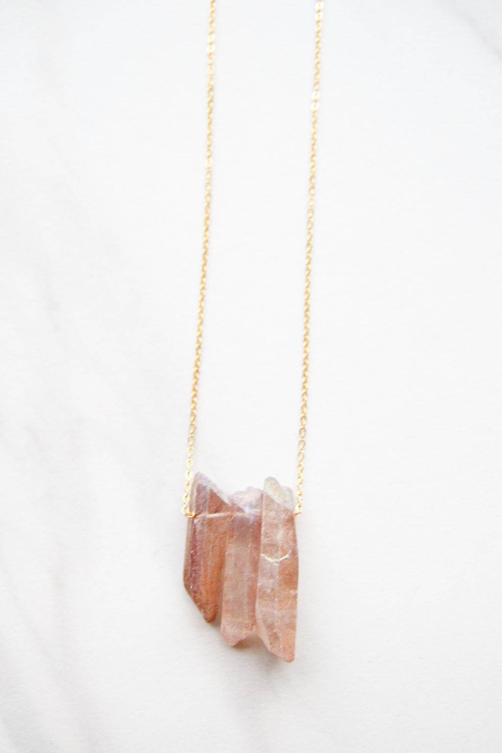 Orange Rock Candy Necklace