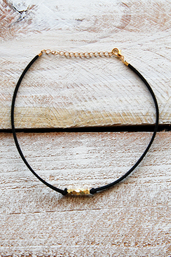 Black Suede Choker Necklace