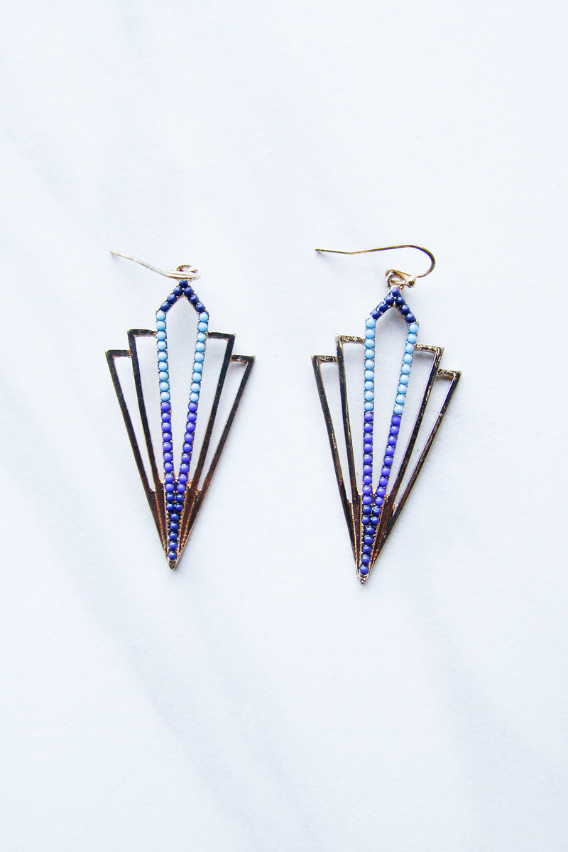Gatsby Point Earrings