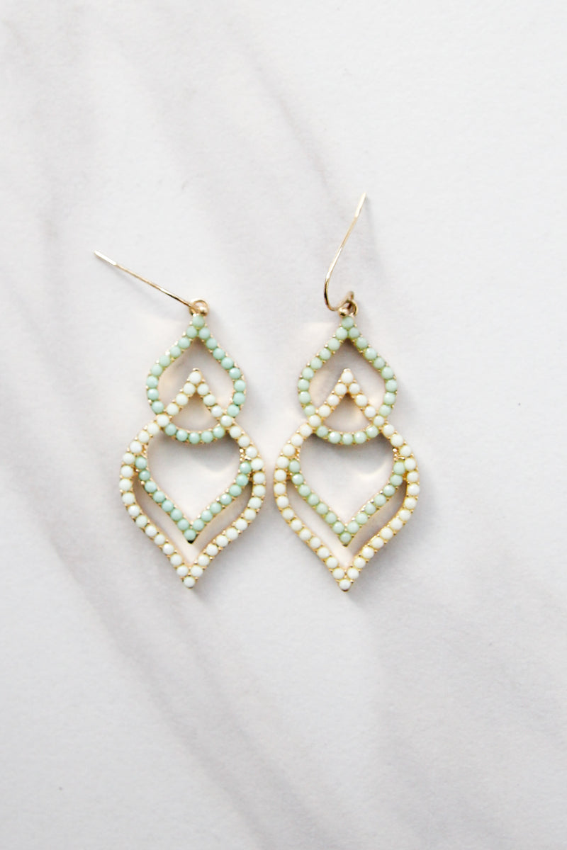 Mint Tiered earrings