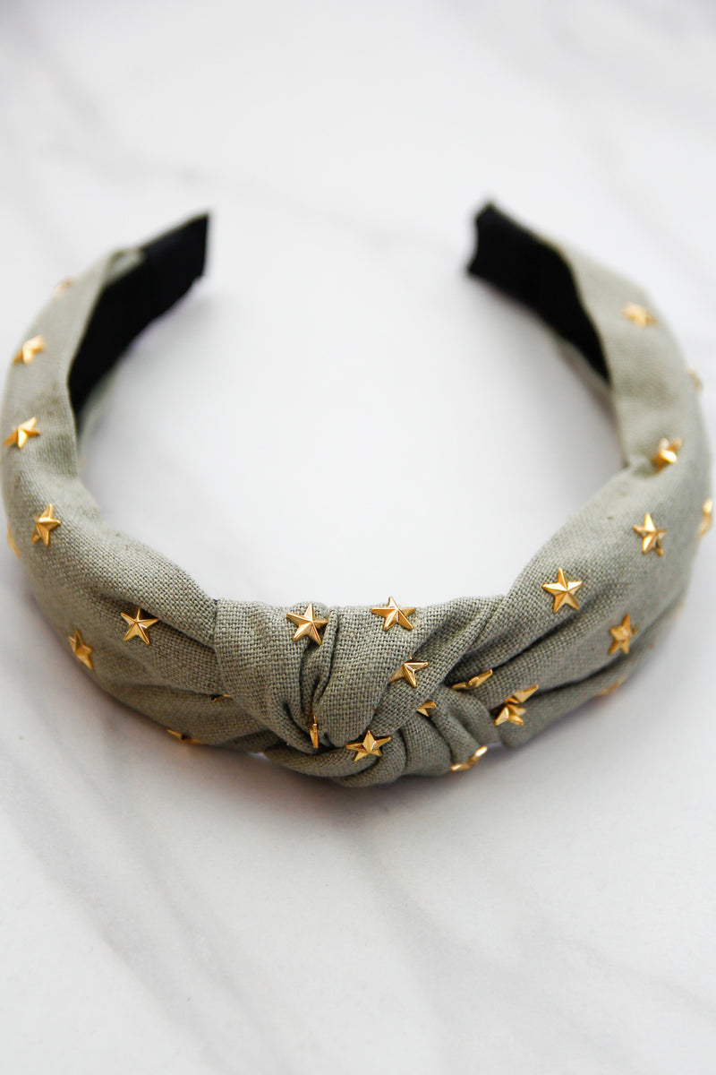 Star Of The Show Headband - Olive
