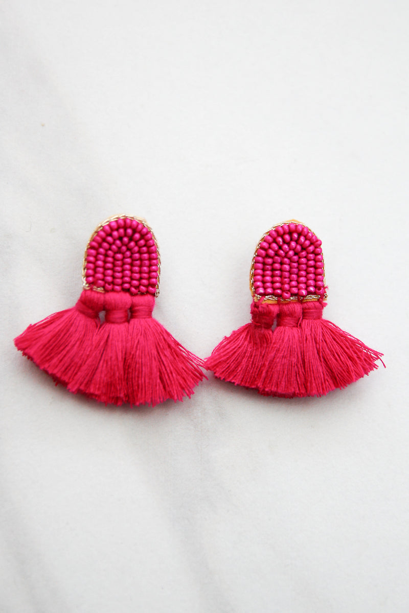 Time To Fly Earrings - Pink
