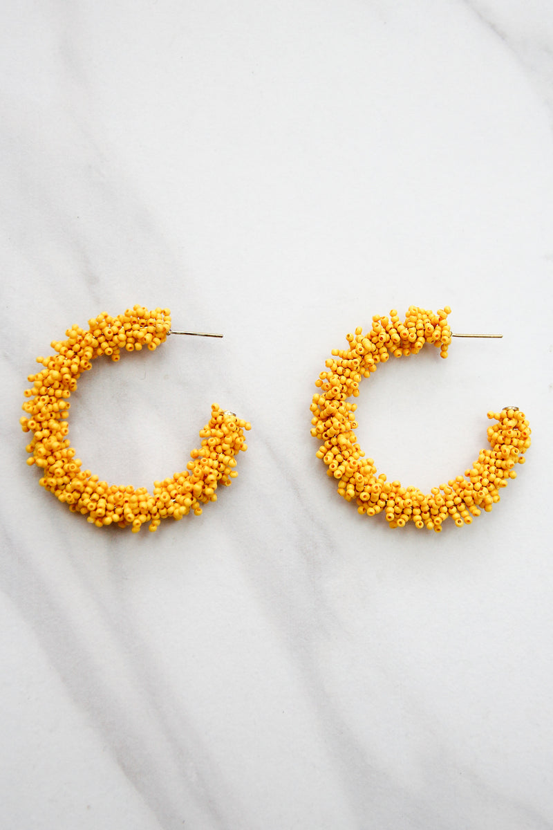 Fall Fiesta Hoop Earrings - Yellow