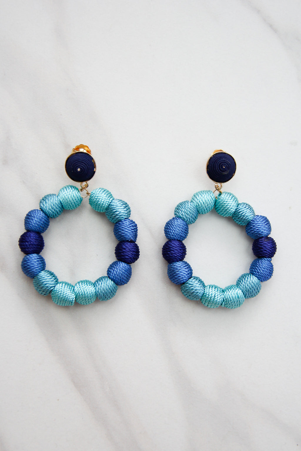 All About Ombre Earrings - Blue