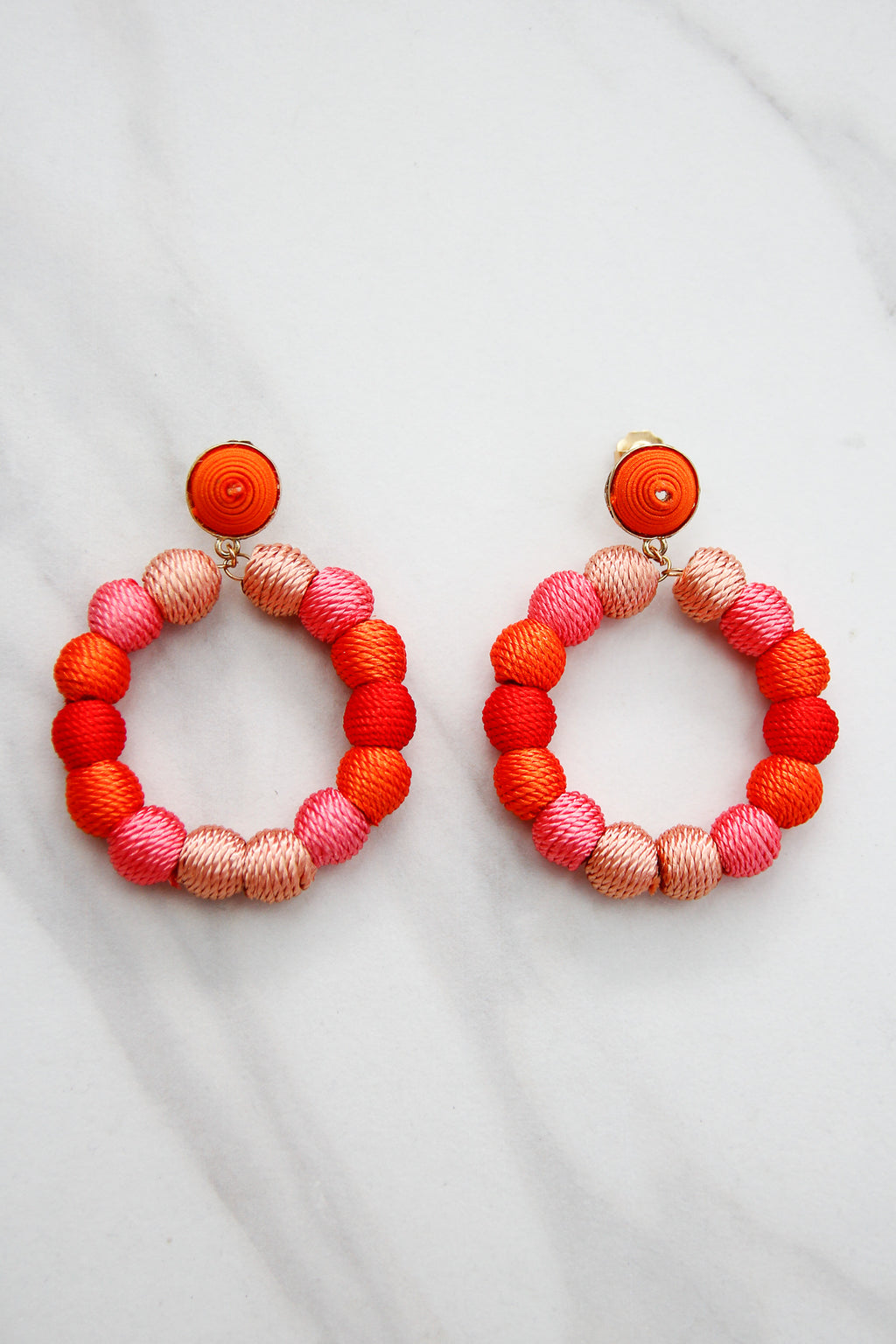 All About Ombre Earrings - Coral