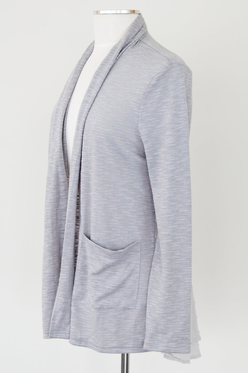 Grey Peplum Cardigan