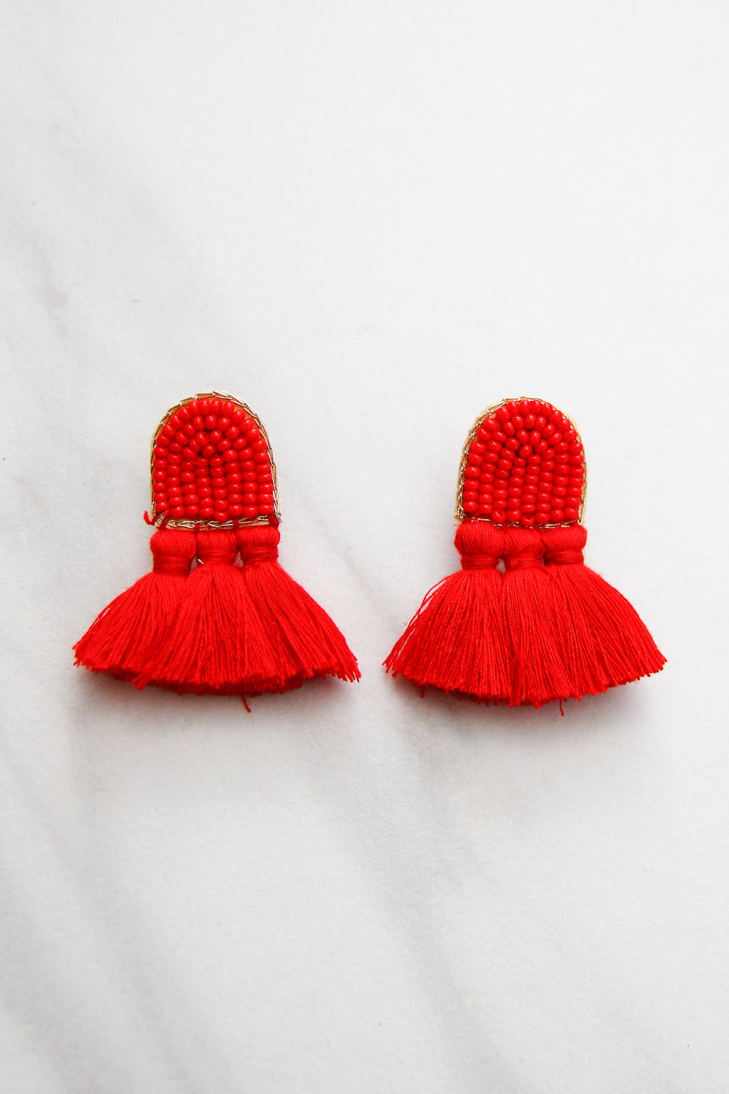 Time To Fly Earrings - Red