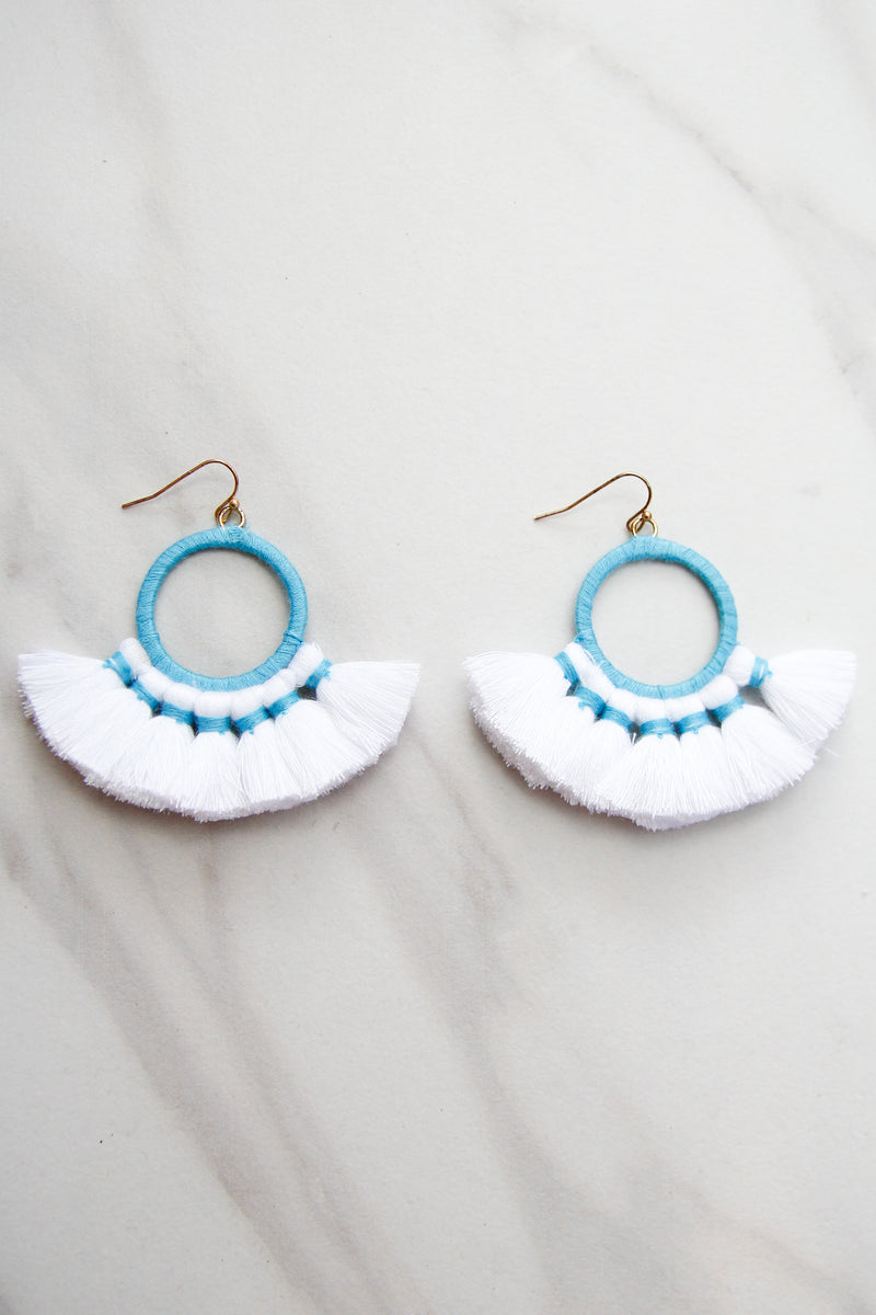 Once Upon A Time Earrings - White & Blue
