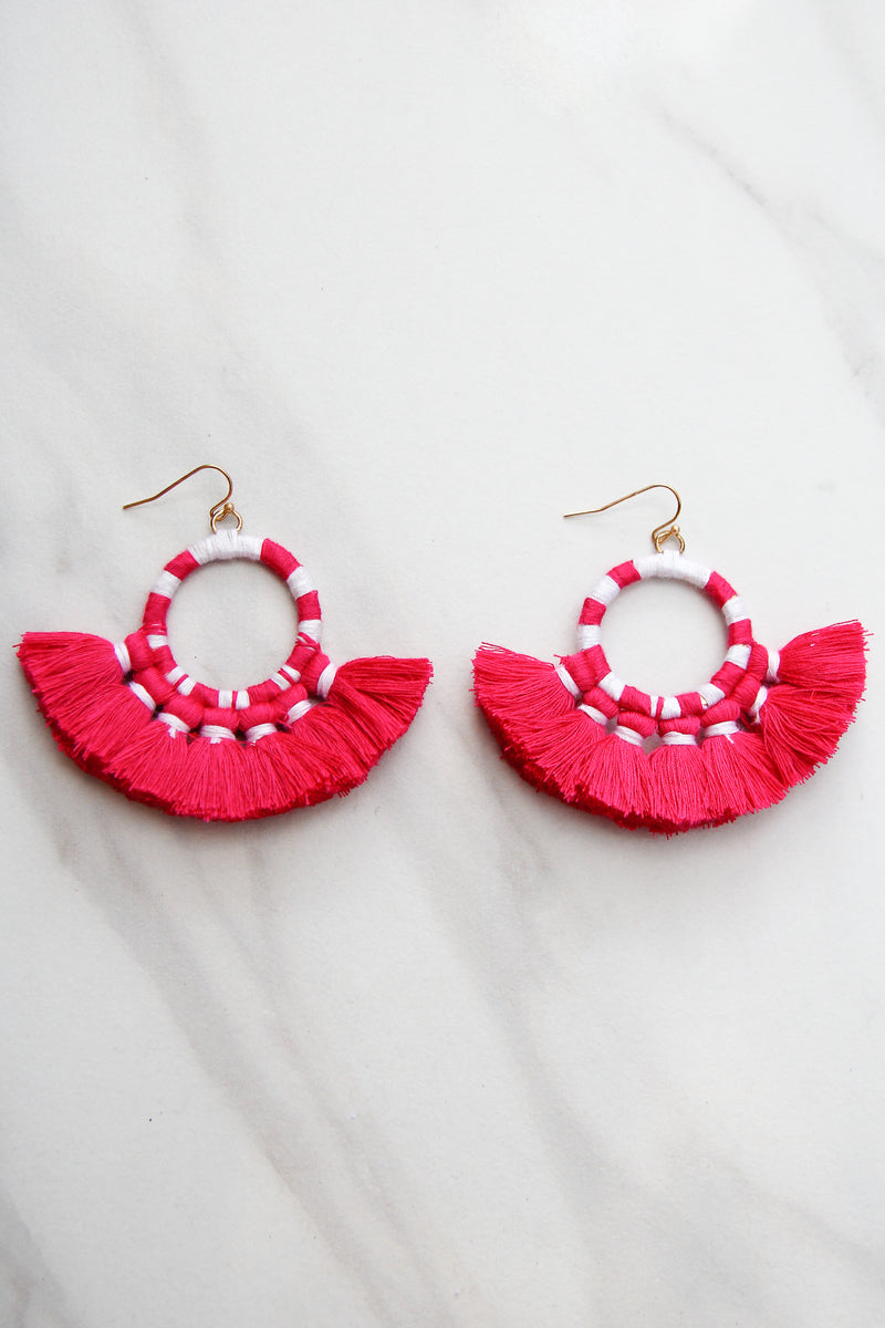 Once Upon A Time Earrings - Pink