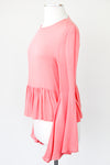 Coral Flare Sleeve Top