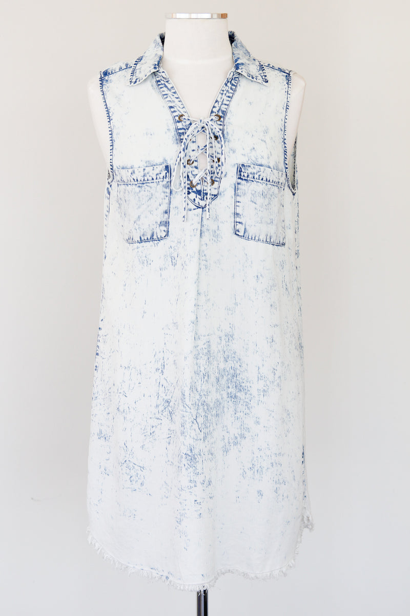 Acid Wash Jean Dress