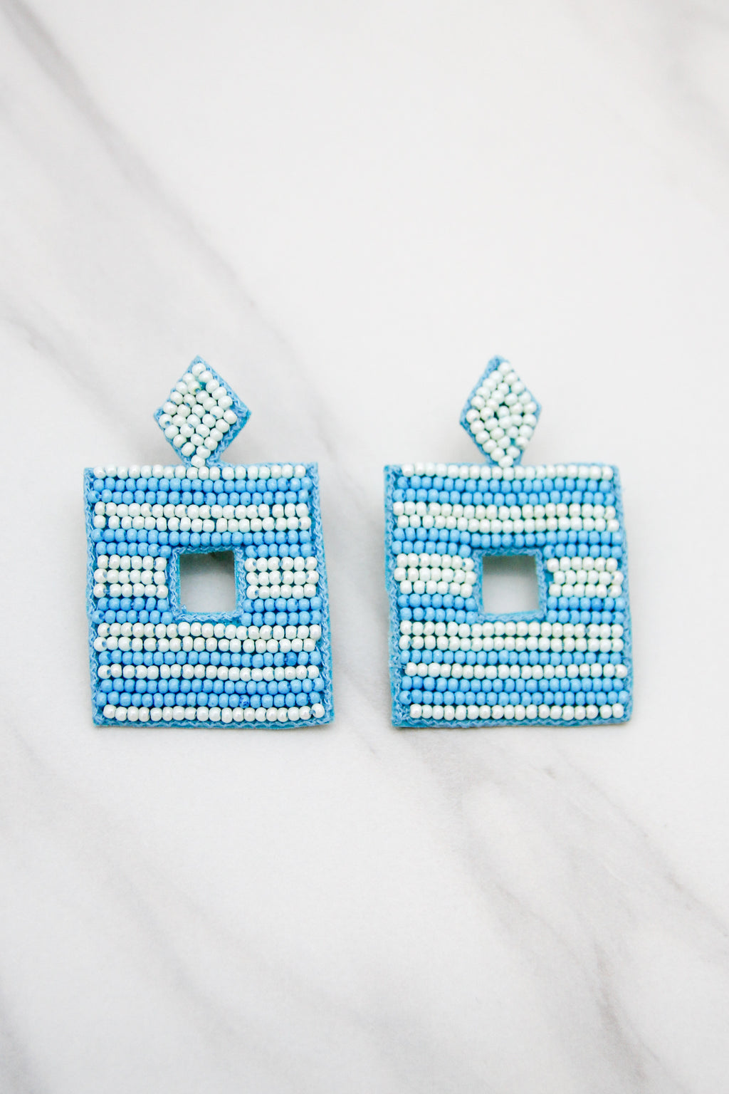 Let's Be Square Earrings - Turquoise