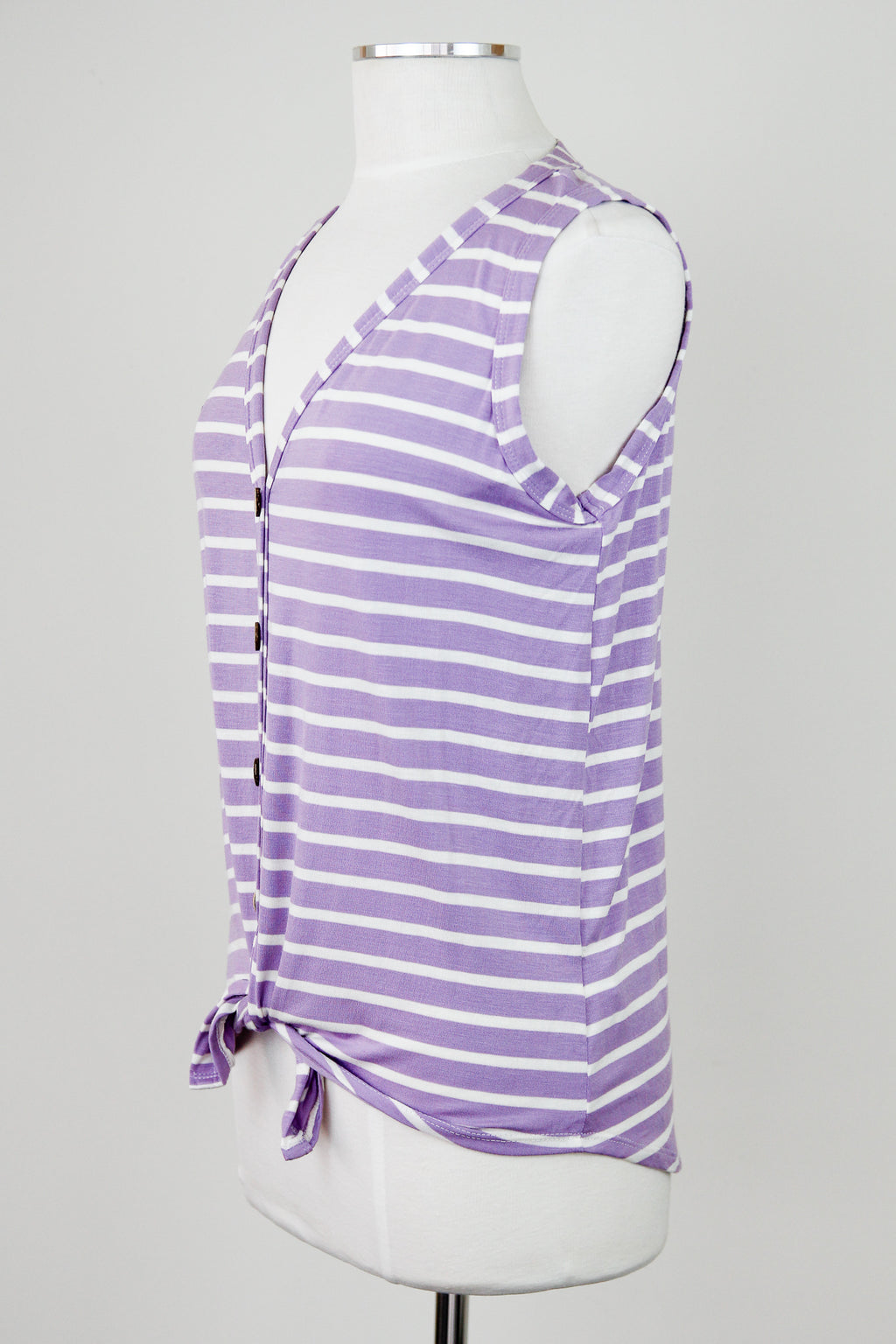 Lilac & Ivory Striped Top
