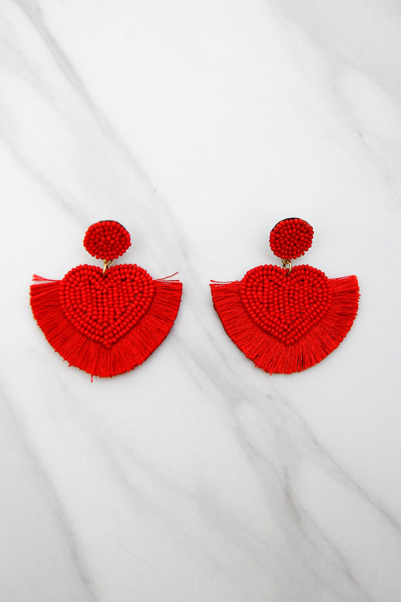Santa Baby Earrings - Red