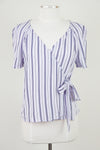 Lilac Stripe Wrap Top