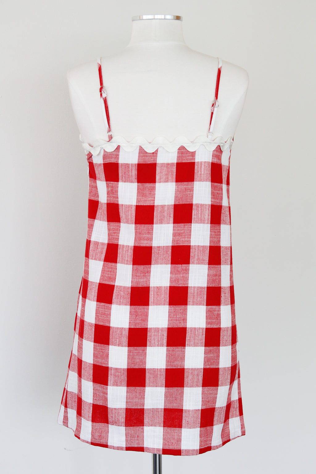 Bold Gingham Dress- Red