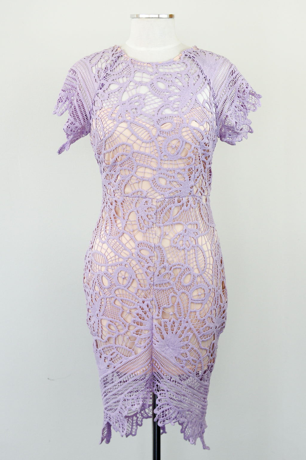 Curtsy Lace Dress - Lavender