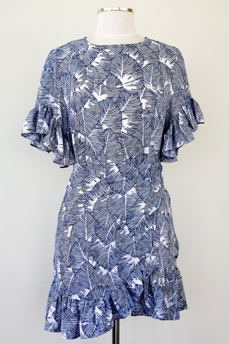 Beyond Be-Leaf Faux Wrap Dress