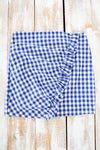 Gameday Gingham Skirt - Blue