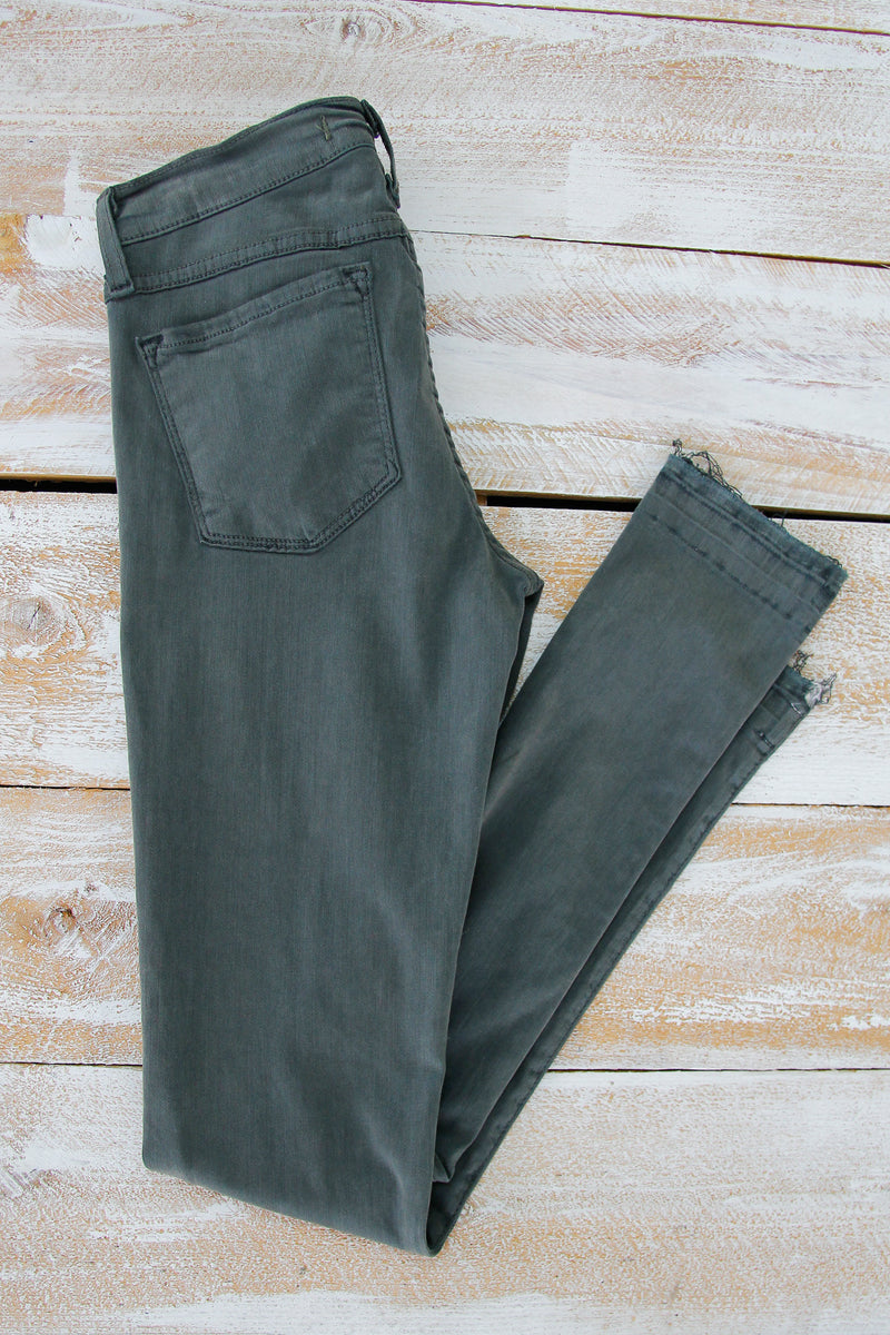 Flying Monkey Forest Green Skinny Jeans