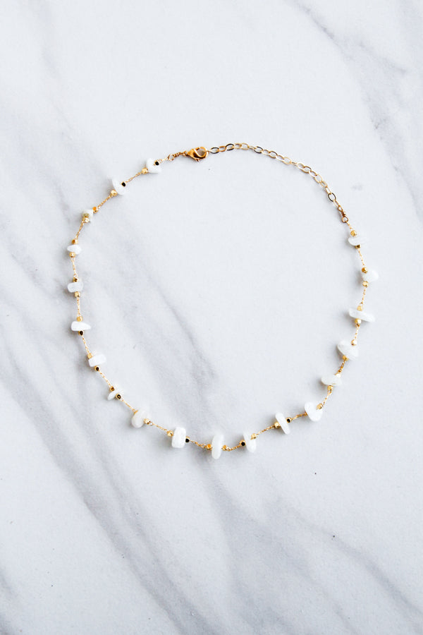 Crystal Clear Choker- Gold