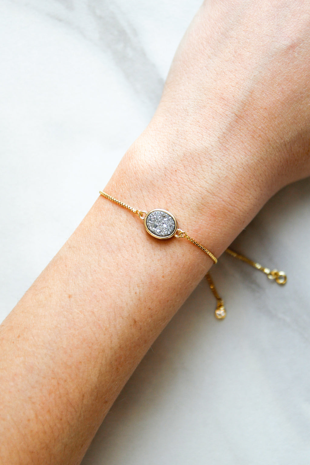 All That Glitters Slider Bracelet - Gold