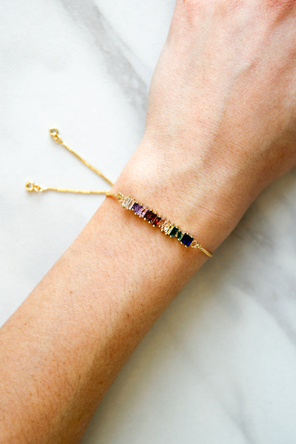 Over The Rainbow Slider Bracelet - Gold