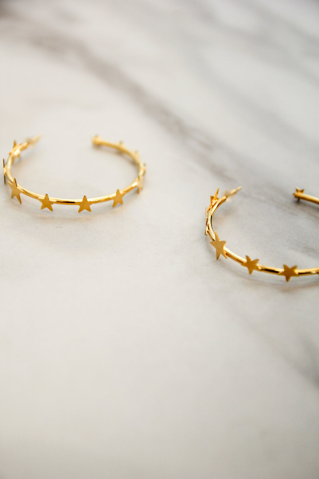 Star Drips Hoop Earrings - Gold