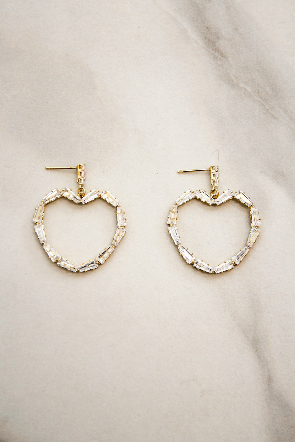 Heart Eyes Earrings - Gold
