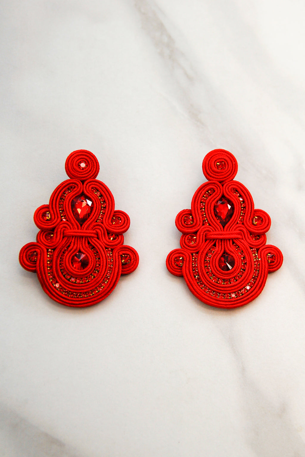 Holly Jolly Earrings - Red