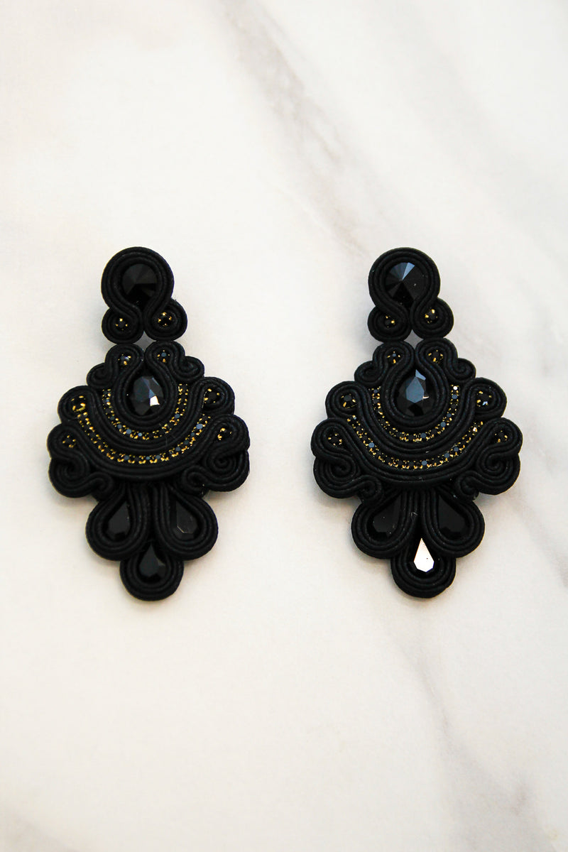 City Lights Earrings - Black
