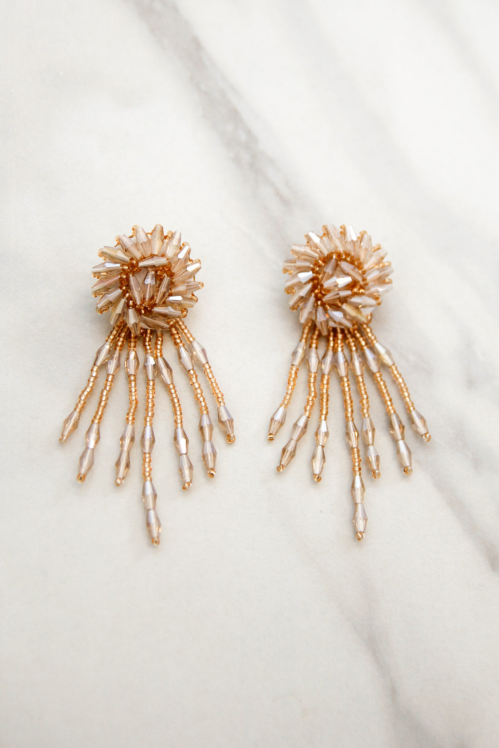 Shine On Me Earrings - Champagne