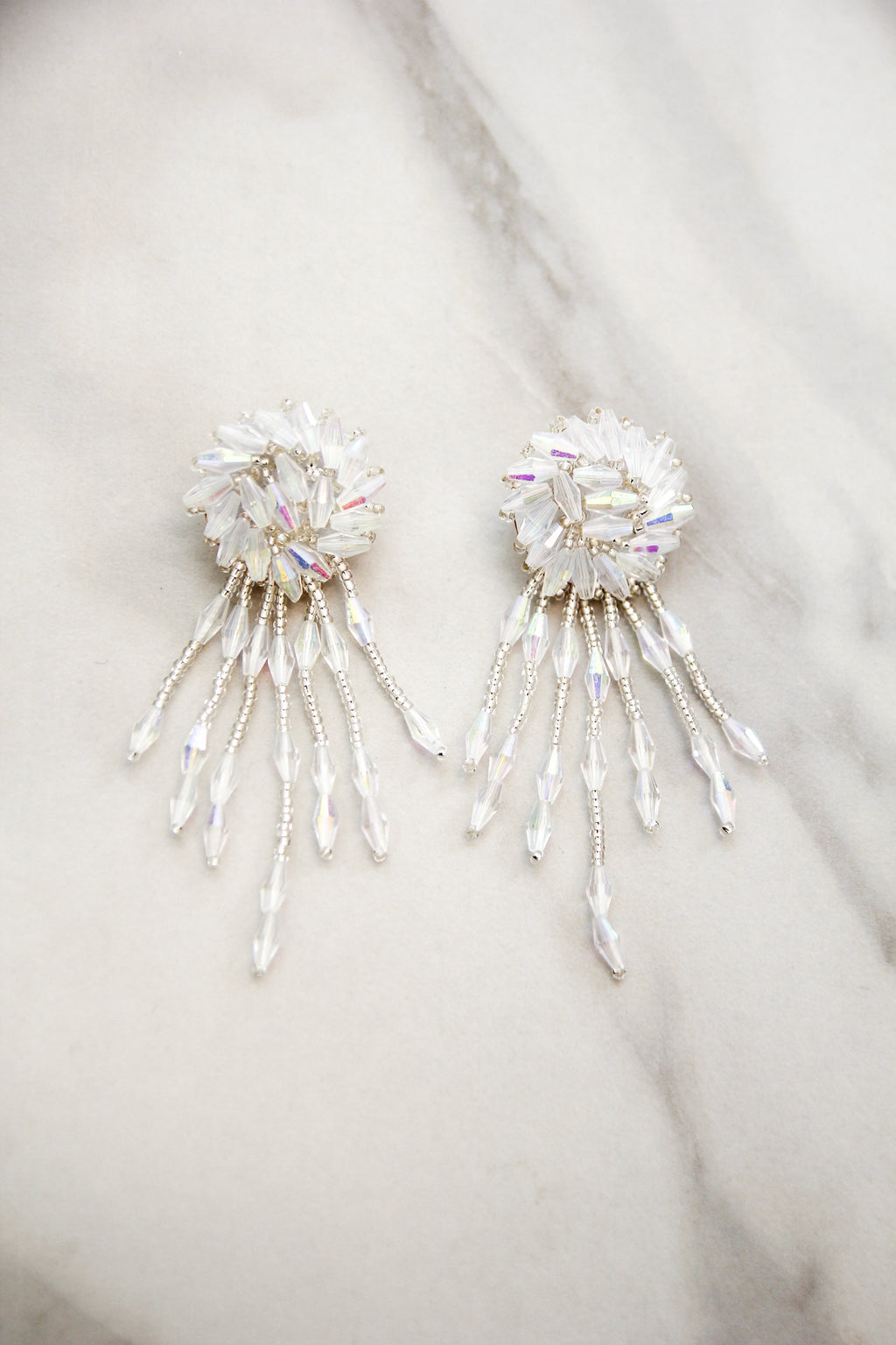 Shine On Me Earrings - White