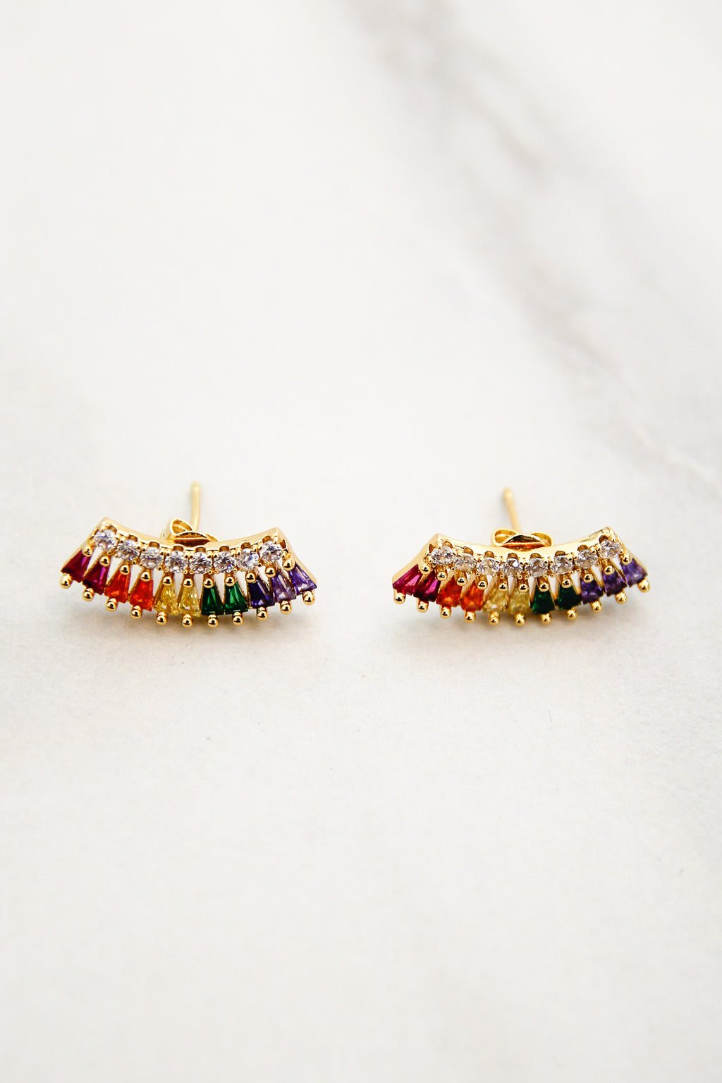 Color Bridge Earrings - Rainbow