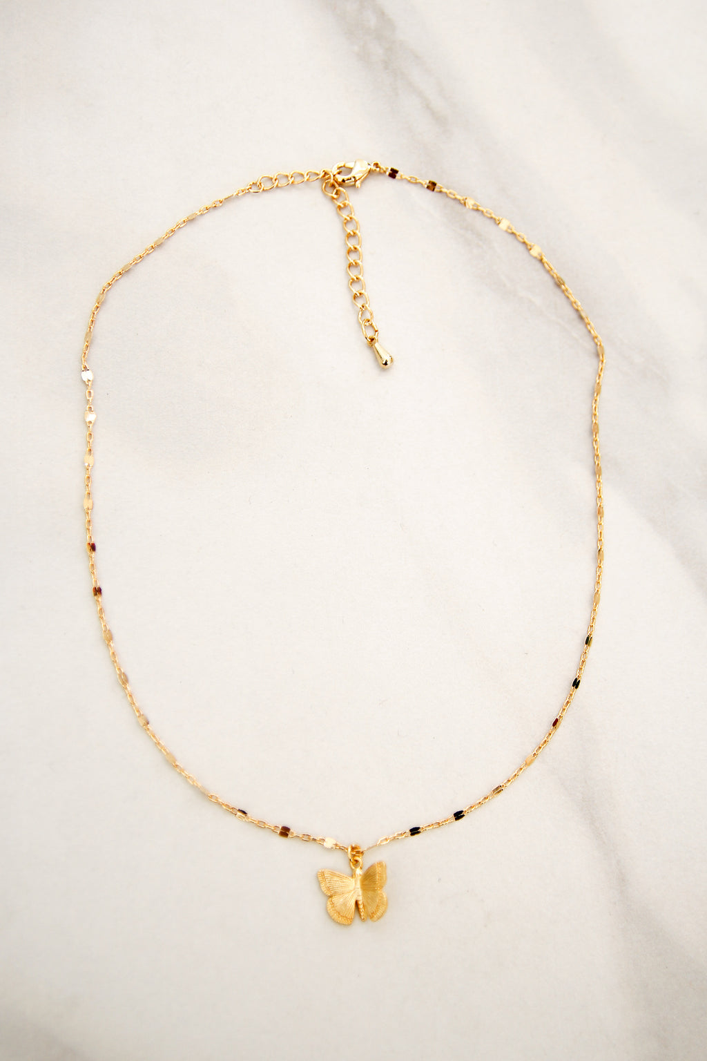 Waiting In the Wings Necklace - Gold