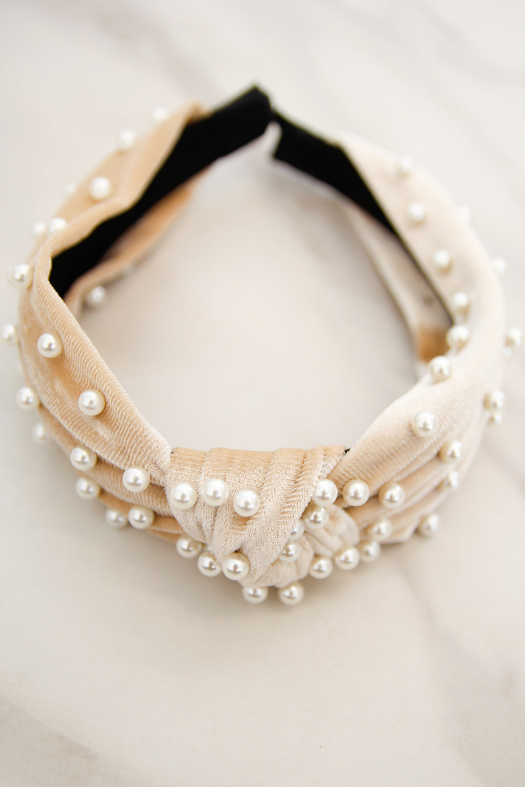 Holiday At The Plaza Headband - Cream