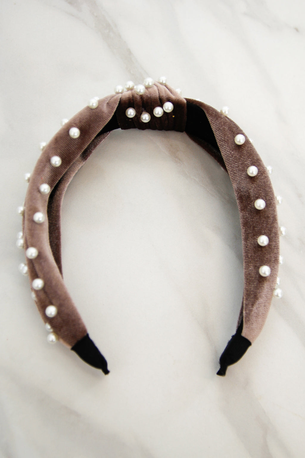 Holiday At The Plaza Headband - Mocha