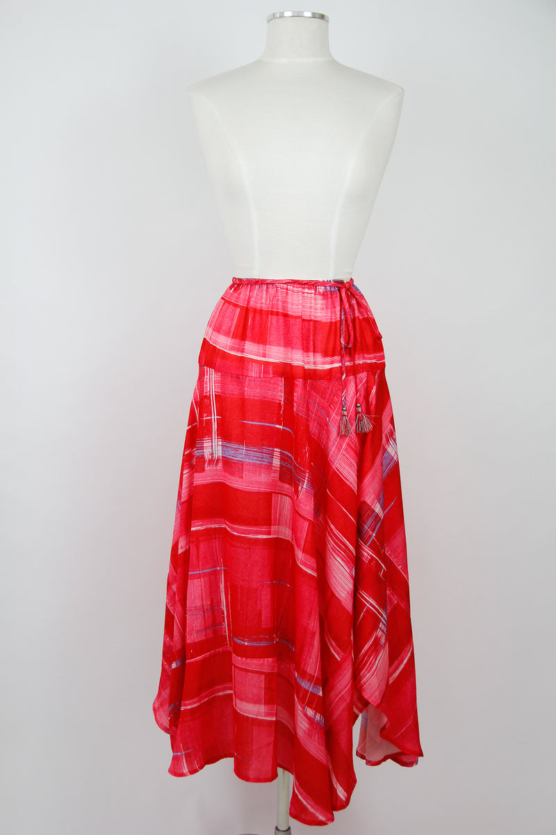 Paint Strokes Maxi Skirt
