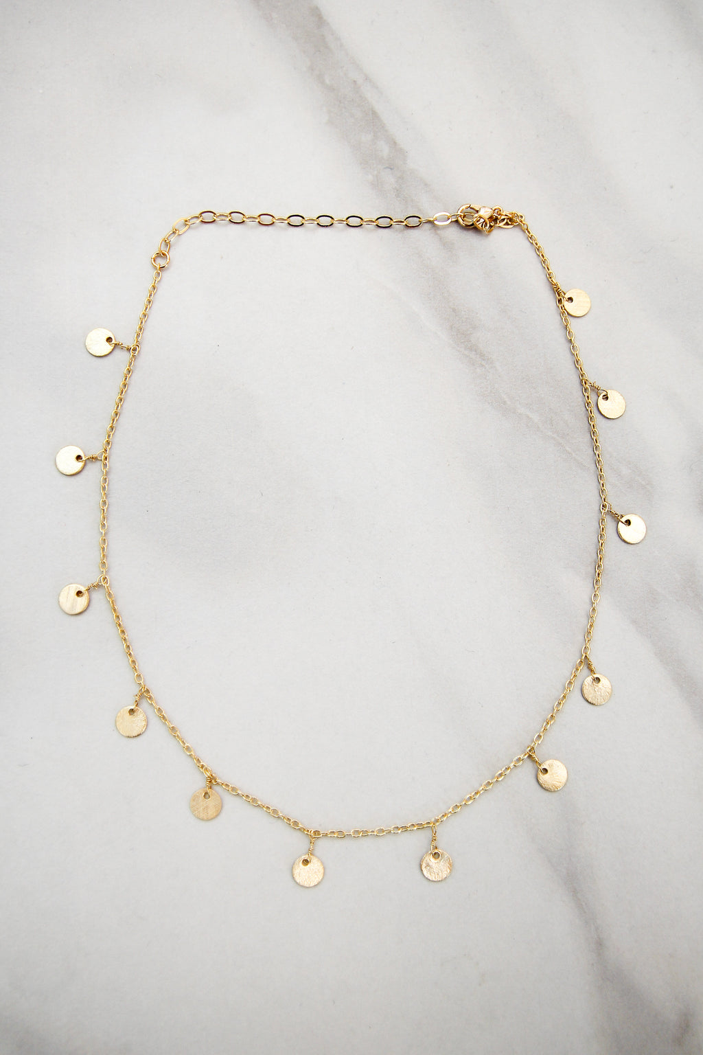 Disk Drop Choker - Gold