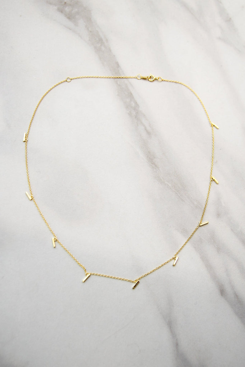 Gold Drop Detail Choker