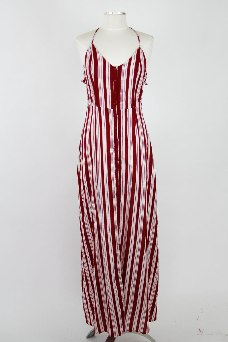 Crimson Backless Maxi Dress