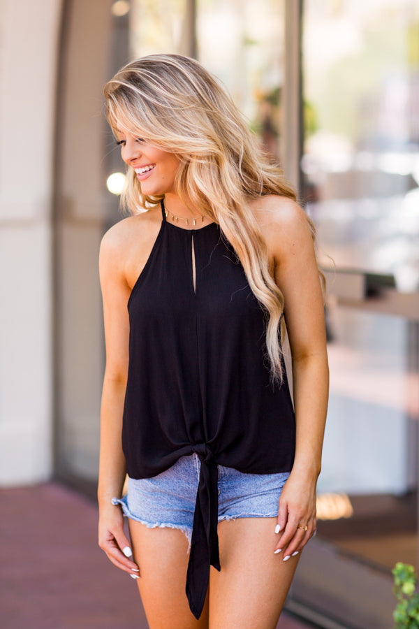 Key To My Heart Top - Black