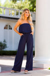 Dance The Night Away Jumpsuit - Navy
