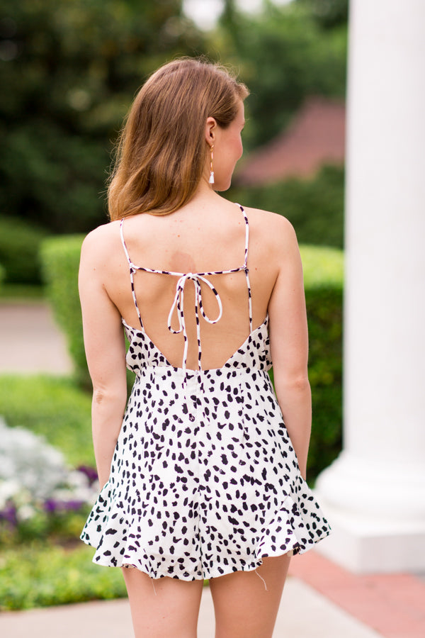 Seeing Spots Romper - Off White