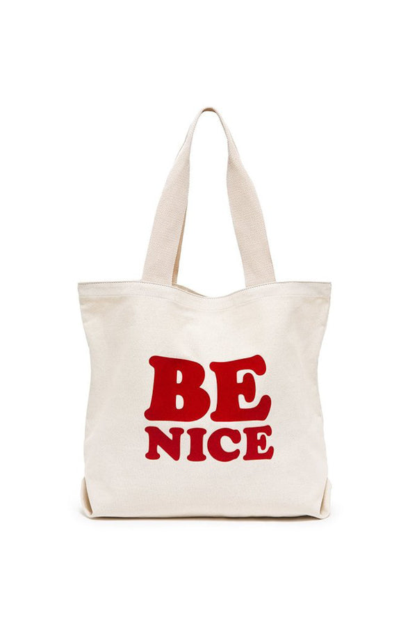 Ban.dō Canvas Tote- Be Nice